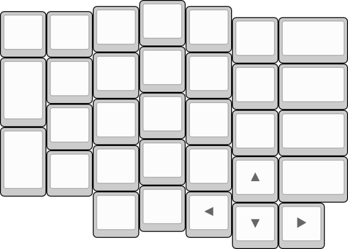 Position of the arrow keys